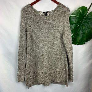 H&M Knit Tunic Peekaboo back Size L